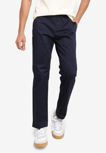 Urban Revivo blue Woven Trousers F74C7AA49F92F1GS_1
