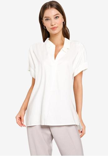 GLOBAL WORK white Woven Shirt 80958AAF1D6D1FGS_1