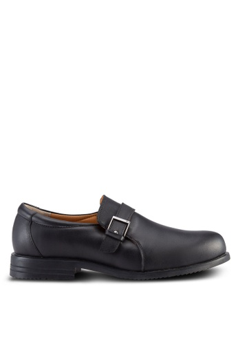Knight black Formal Shoes with Buckle Detail KN875SH89OMOMY_1