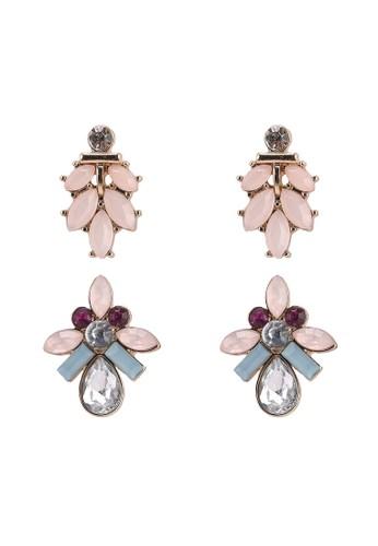 ONLY multi Blair 2-Pack Stone Earrings FBC24ACC96B7C0GS_1