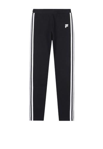 FILA black Korea Collection F Logo Side Striped Pants F895DAA748B49CGS_1