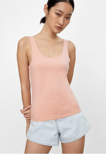 Pomelo pink Sustainable Classic Tank Top - Pink 06B83AA89BEABBGS_1