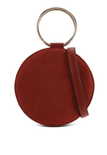 Miss Selfridge brown Metal Round Crossbody Bag F4116AC08A9D92GS_1