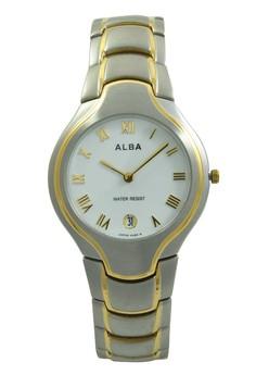 Image of ALBA Jam Tangan Pria - Silver Gold White - Stainless Steel - AVKA70