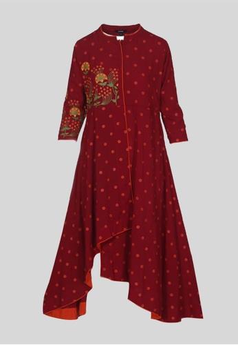 Le Reve red Le Reve A-Line Asymetrical Tunic Dress 8C2B1AA5083F3DGS_1