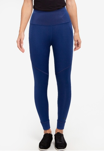 PUMA blue Studio Ribbed High Waist 7/8 Leggings FD39EAA7CDB5AAGS_1