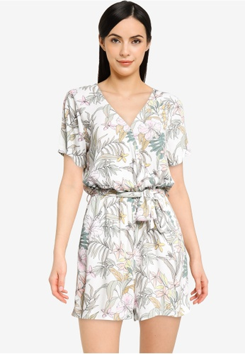 ONLY white Mars Short Sleeve Playsuit 91820AA473F9E4GS_1