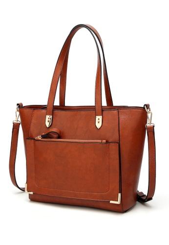 Halo brown (Big Capacity) Three Way Crossbody Bag 706FBAC899C3E3GS_1
