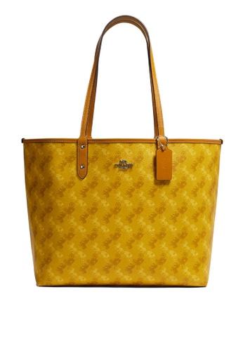Coach yellow Reversible City Tote Bag(cv) A276DAC447E6B1GS_1