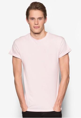 反折短袖素色TEesprit 品牌E, 服飾, T恤