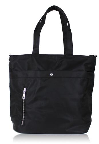 Dazz black Minimalist Nylon Tote - Black  DA408AC0S5PMMY_1