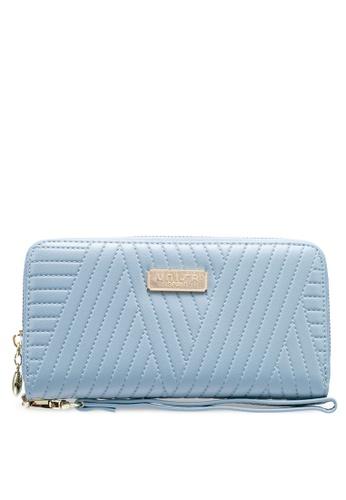 Unisa blue Debossed Ladies Zip-Around Wallet 63CB2ACC5B3910GS_1