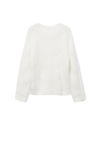 MANGO KIDS white Cable-Knit Sweater 1BA08KA972EF1CGS_1