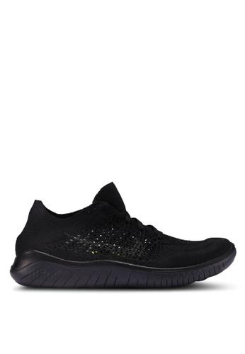 Nike black Nike Free RN Flyknit 2018 Shoes 3E569SH47BB1D0GS_1