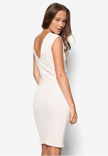 羅紋貼身無袖連身裙, 服飾esprit outlet台北, 洋裝