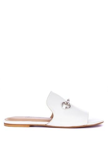 CARMELLETES white Slides With Ornament Flats 3D5C4SH2D9980EGS_1