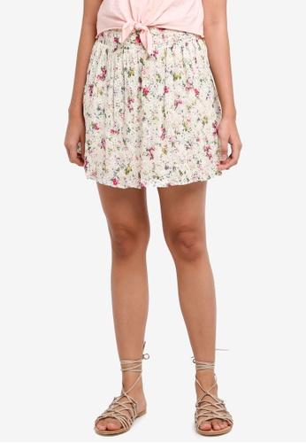 TOPSHOP white Broderie Print Mini Skirt 8C837AAFB1FCD7GS_1
