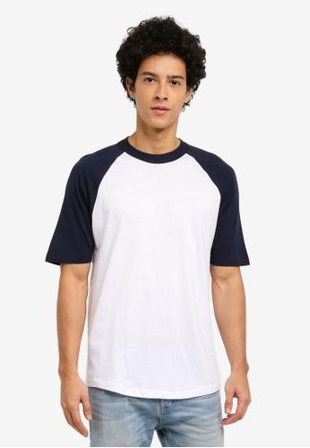 MANGO Man white Raglan Sleeve T-Shirt 2401CAAEB1406DGS_1
