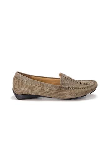 Shu Talk 褐色 AMAZTEP 大熱舒服真皮輕便鞋 (適合腳型偏闊) ABEF0SH358F00FGS_1
