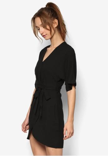 和風裹飾腰esprit hk store帶迷你連身裙, 服飾, 洋裝