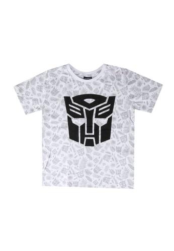 LC Waikiki white Boy's Transformers T-shirt 2BFB4KA86F6F93GS_1