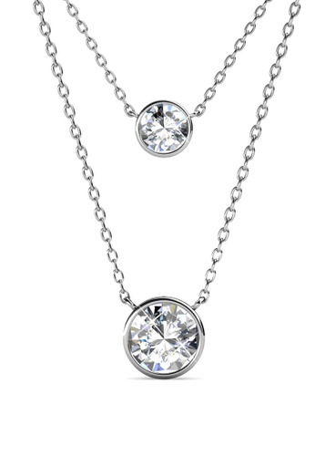 Her Jewellery silver Juliet Pendant (White Gold) - Made with premium grade crystals from Austria 71CDAAC20690F2GS_1