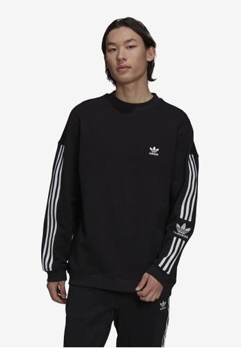 ADIDAS black adicolor classics lock-up trefoil crewneck sweatshirt 4B9BFAA982FED0GS_1
