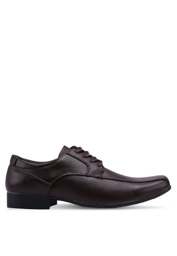 Bata brown Business Dress Shoes 57E10SHF6A3F2AGS_1