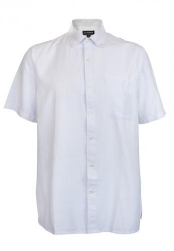 Platinum white Platinum Men Big Size Plain Microfiber Shirt 1XL-4XL Plus Size PM8239 19A47AA4572D6CGS_1