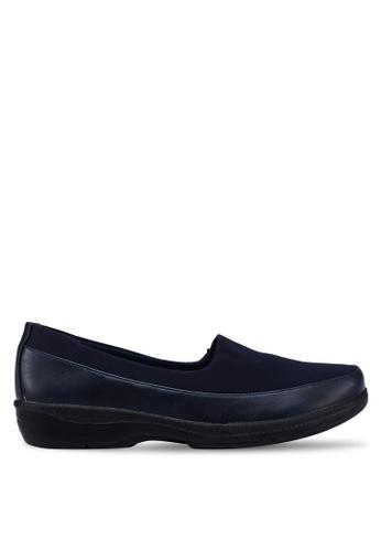 Bata 海軍藍色 舒適懶人鞋 D629ASH97B5160GS_1