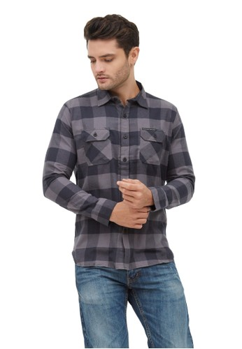 MUGABE grey MUGABE men's shirt frost grey 95411AAD0CA985GS_1