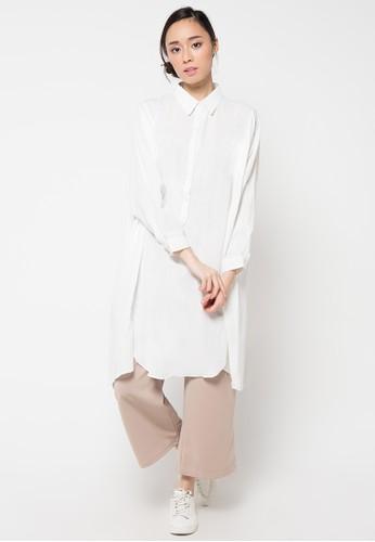 Envy Look white Long Box Blouse EN694AA51CNOID_1
