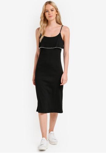 Something Borrowed black Contrast Edge Cami Dress 8EDDBZZ50C8394GS_1