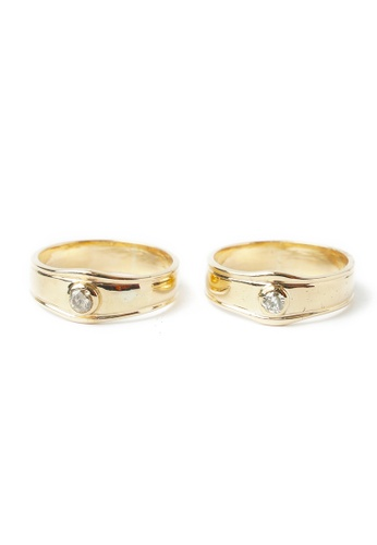 CEBUANA LHUILLIER JEWELRY gold 18 Karat Yellow Gold Wedding Ring With Diamond 2C708AC3A6BF99GS_1