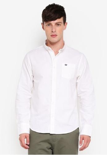 Brave Soul 白色 長袖Embroiderd 襯衫 3C485AA8B650F4GS_1