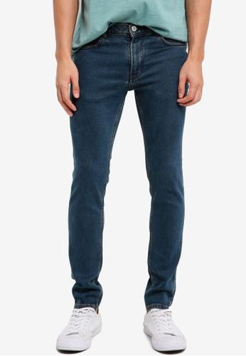 MANGO Man blue Slim-Fit Dark Vintage Wash Patrick Jeans D6042AA466043DGS_1