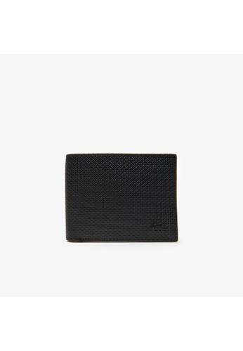Lacoste black Men's Chantaco Piqué Leather 3 Card Wallet 22BB3AC5A4A16FGS_1