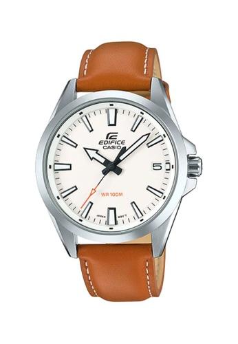 EDIFICE brown Casio Edifice Men's Analog EFV-100L-7AVUDF Brown Leather Watch 28CF6ACCD5EF3BGS_1