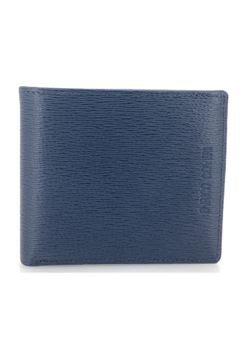Enrico Coveri navy Italian Leather Flap Wallet 17A50ACF64F943GS_1
