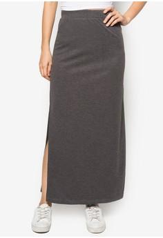 Basics Maxi Skirt With Side Slits