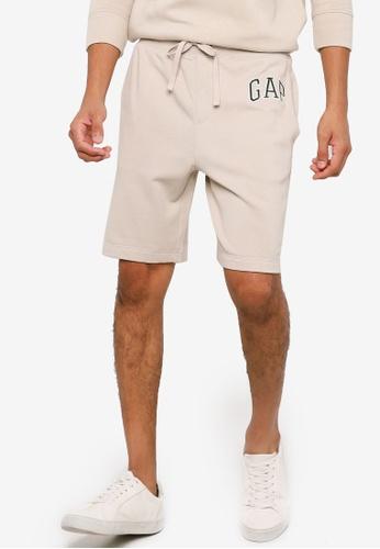 GAP beige Mini Arch Shorts 9AF4EAAEBF127DGS_1