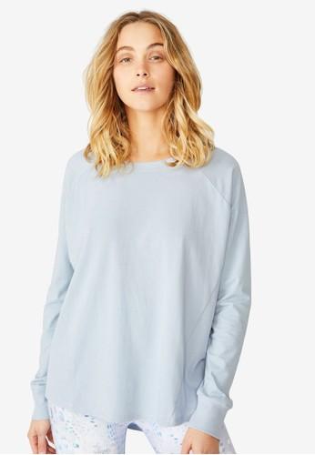 Cotton On Body blue Active Rib Long Sleeve Top 0B326AA1F1561CGS_1