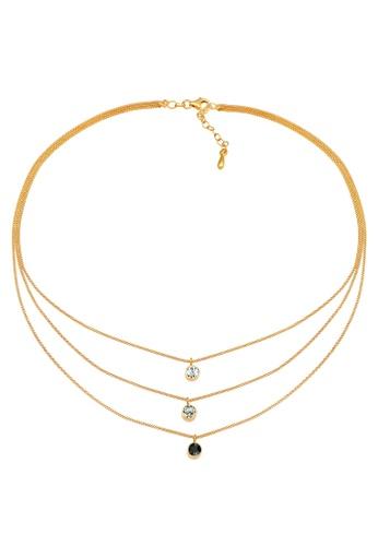 ELLI GERMANY gold Choker Swarovski Crystals Necklace 57B43ACCCC865BGS_1