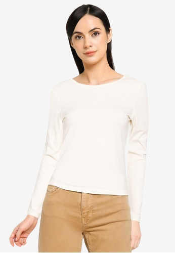 ONLY white Niff Life Open Back Top EAFE8AA6421260GS_1