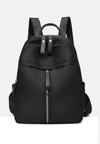 Lara black Women's Canvas Zipper Backpack - Black (Small Size) B824AACE0C8F60GS_1