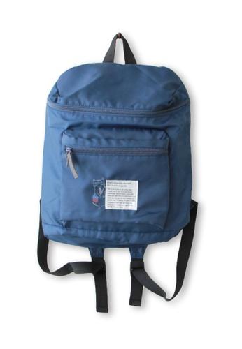 LULUGIFT blue Lulugift Kusuguru Shippo Nekozawa Sunnyplace Backpack Blue LU989AC0SE2XMY_1