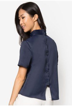 Collection Back Button Boxy Top