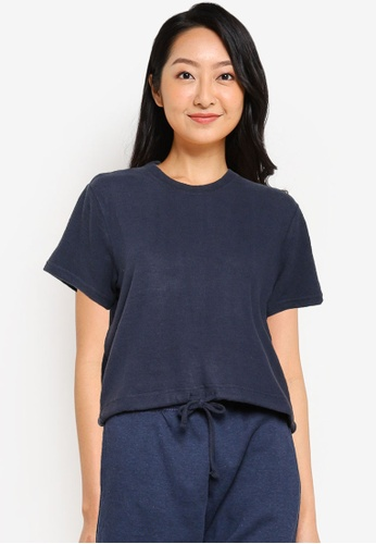 Cotton On Body blue Super Soft Draw Cord T-Shirt 214D1AA0018089GS_1