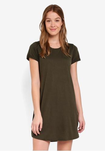 Cotton On green Tina Tshirt Dress F6821AAFF6F0F4GS_1