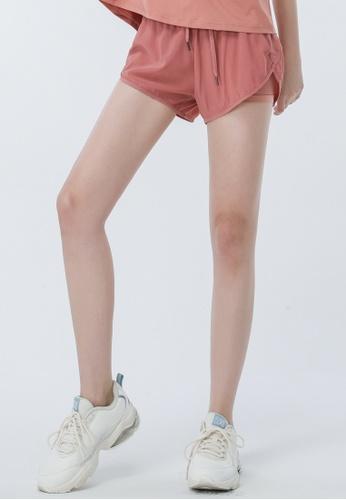 HAPPY FRIDAYS 輕薄網紗拼接運動外罩短褲DSG517 5DB66AAE12E157GS_1